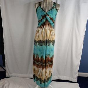 Julia Silk Sleeveless Maxi Dress Size Small